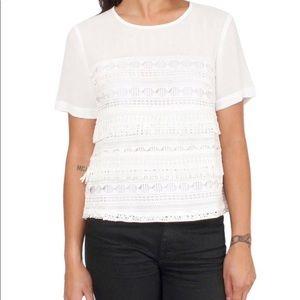 Greylin Anselma White Crochet Top from Stitch Fix